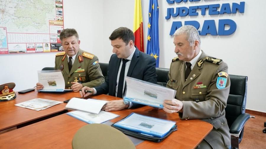 Protocol de colaborare între CJA și trei asociații ale cadrelor militare