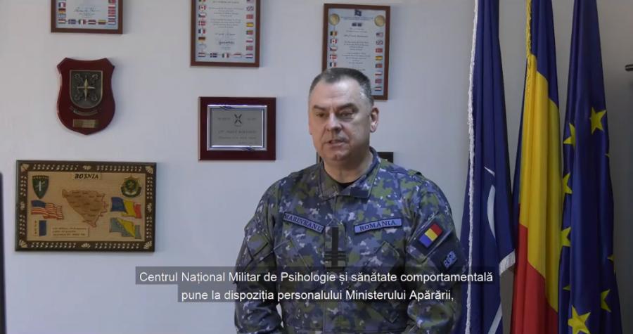 Suport psihologic telefonic pentru personalul MApN din prima linie implicat în combaterea pandemiei
