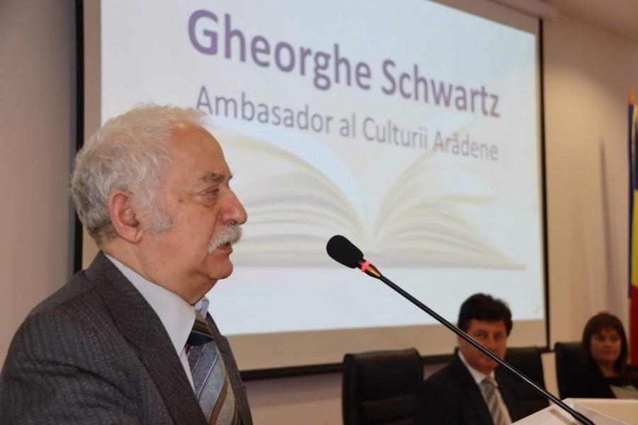 "Gheorghe Schwartz a devenit ""Ambasador al Culturii Arădene"""