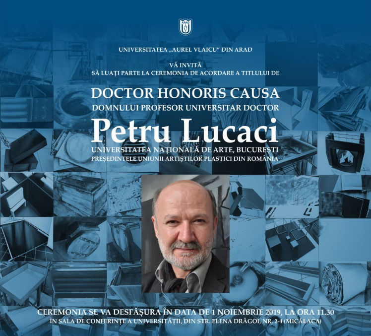 UAV: ceremonia de acordare a titlului de Doctor Honoris Causa prof. univ. dr. Petru Lucaci