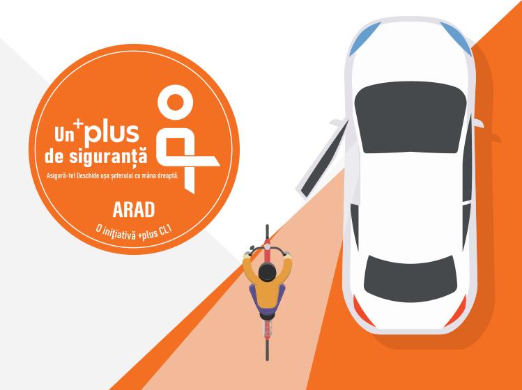O nouă acțiune care promovează siguranța în trafic, inițiată de PLUS CL1 Arad!