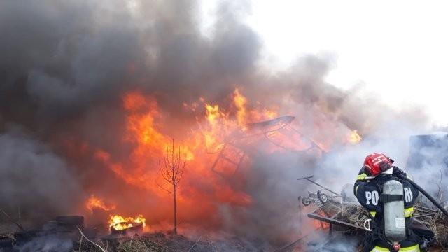 Incendiu în municipiul Arad