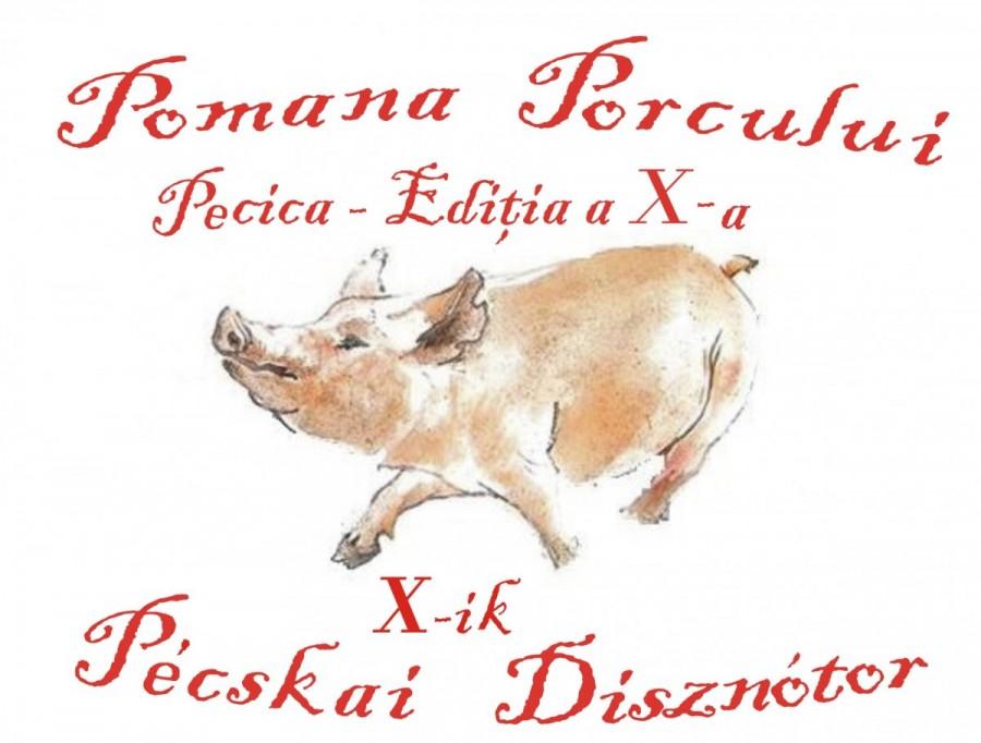 Pomana Porcului de la Pecica a ajuns la ediţia a zecea