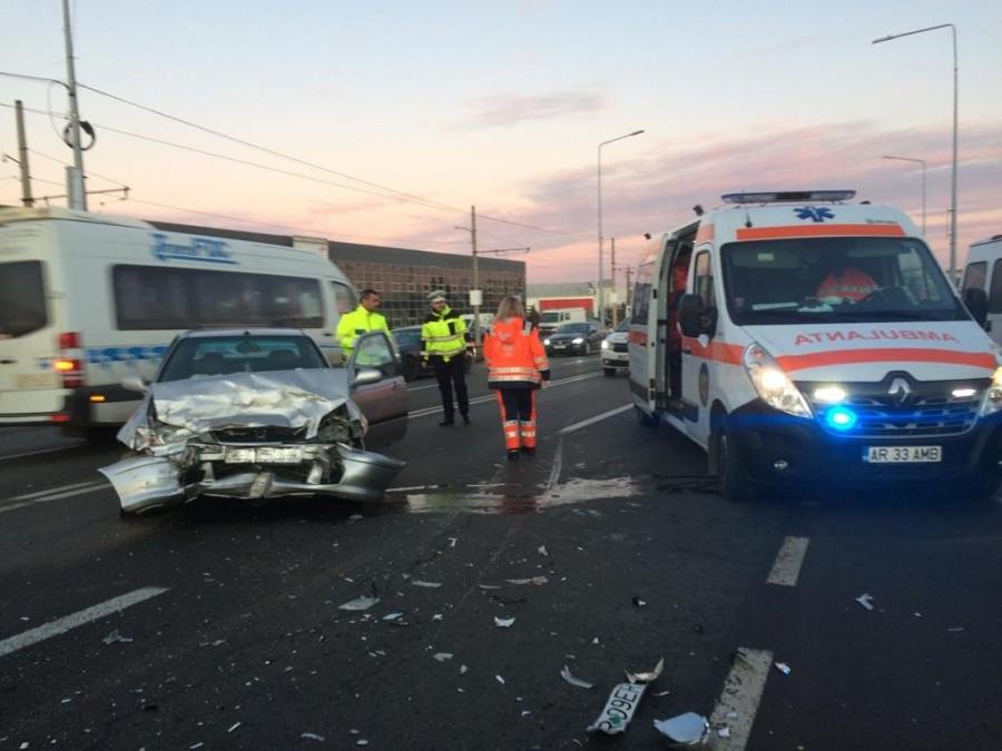 Accident cu Opel contra Honda