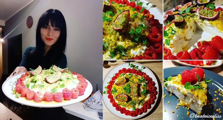 Din Bucătăria Lui Eliss: Prăjitură Pavlova cu fructul pasiunii și mascarpone