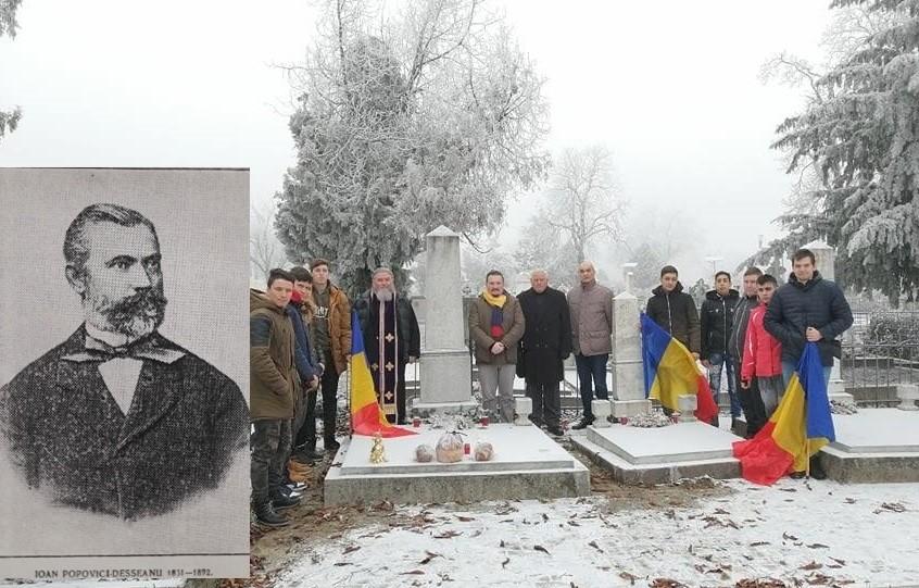 """Ioan Popovici-Desseanu, avocatul în casa căruia a locuit Mihai Eminescu timp de o lună, evocat de elevii Școlii """"Astra"""" Arad"""