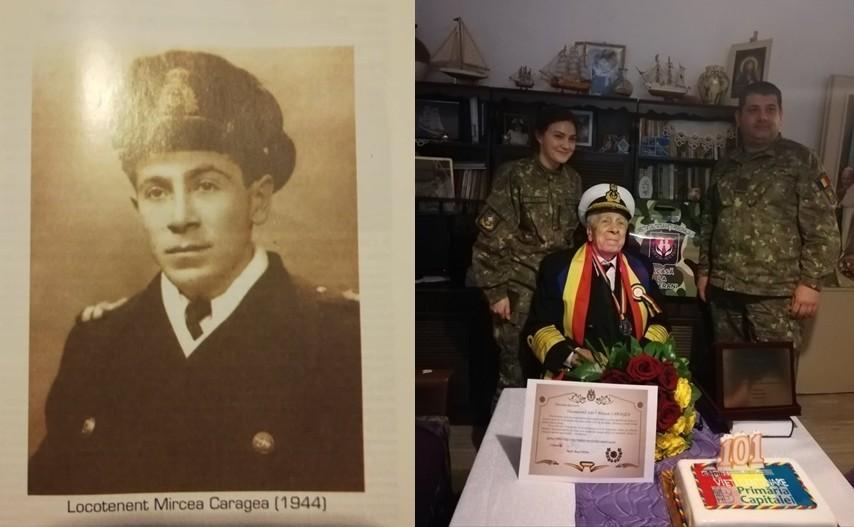 Viceamiralul (rtr.) Mircea Caragea, veteran de război, a împlinit 101 ani. Este ultimul supraviețuitor de la primul marș de instrucție al Bricului Mircea