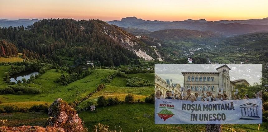 O veste bună! Se reia procedura de includere a zonei Roșia Montană în Patrimoniul UNESCO