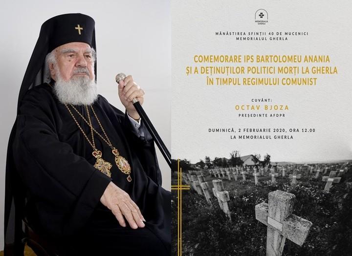 Mitropolitul Bartolomeu Anania, comemorat împreună cu deținuții politici morți la Gherla în timpul regimului comunist