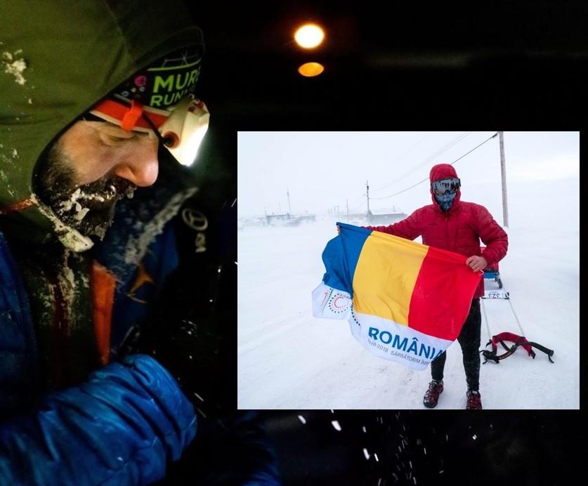Tibi Ușeriu, învingător în lupta cu el însuși, zăpada și temperaturile extreme de la Yukon Arctic Ultra 2020