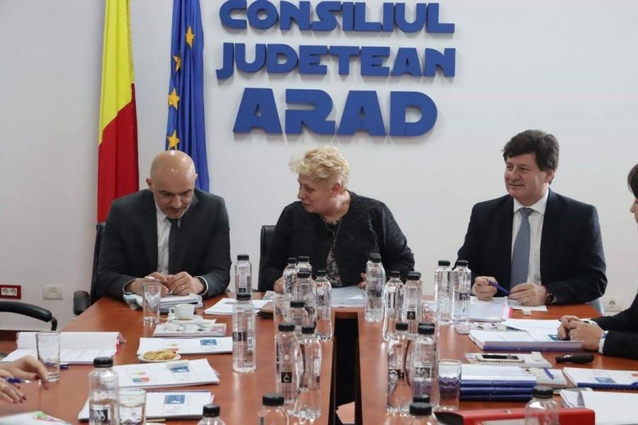 Ședința de bilanț BRECO, găzduită de Consiliul Județean Arad