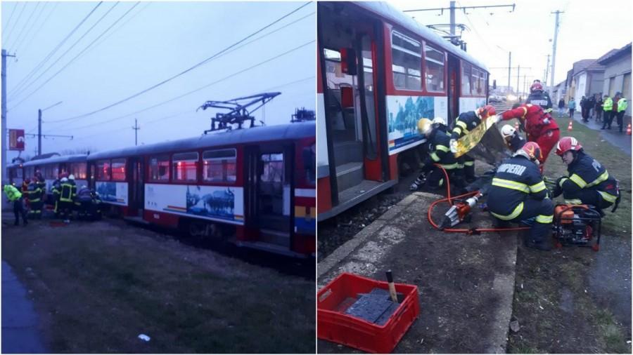 Femeie lovită mortal de tramvai în Aradul Nou / UPDATE: Cum s-a petrecut accidentul