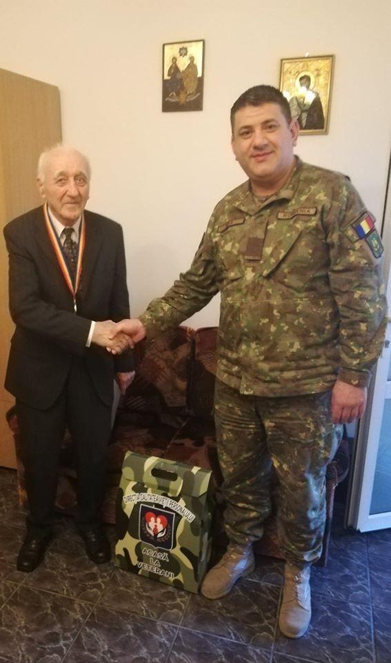 Veteranul de război Ioan Rotariu, sărbătorit la împlinirea vârstei de 95 de ani
