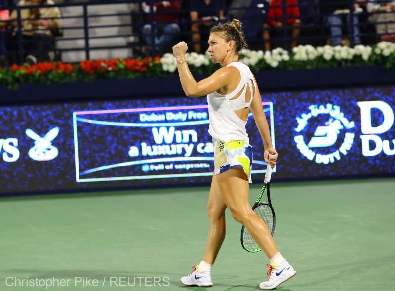 Simona Halep, calificare fără emoții în finala turneului WTA de la Dubai