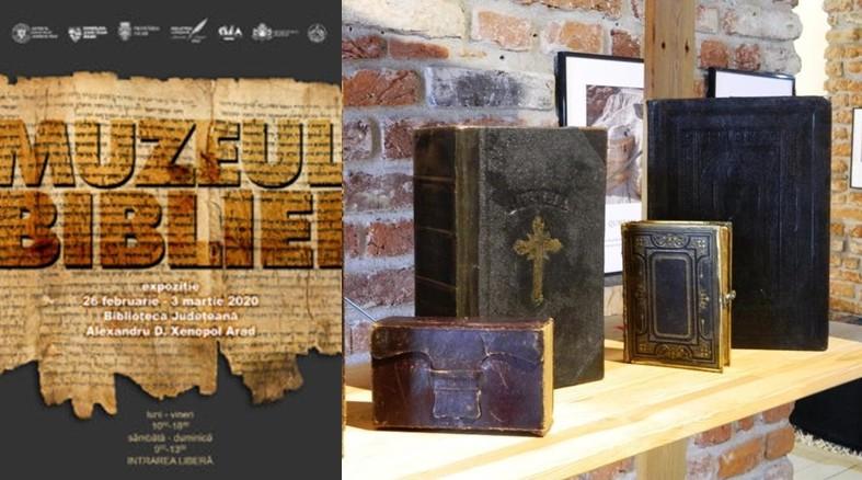 """Expoziția """"Muzeul Bibliei"""", la Biblioteca Județeană """"Alexandru D. Xenopol"""" Arad"""