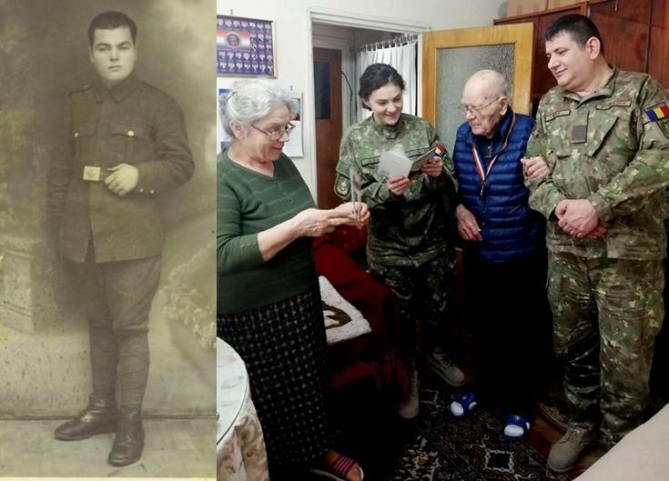 Veteranul de război Marin Neagu, sărbătorit la 98 de ani