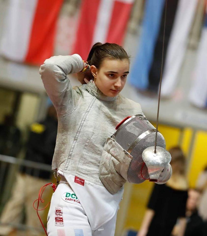 Ilinca Pantiş, medaliată cu bronz la Europenele de scrimă pentru juniori din Croația