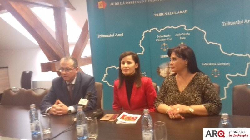 """Gabriela Baltag și Evelina Oprina (CSM): """"Tribunalul Arad e un model de bune practici, un etalon la nivel național și european"""""""