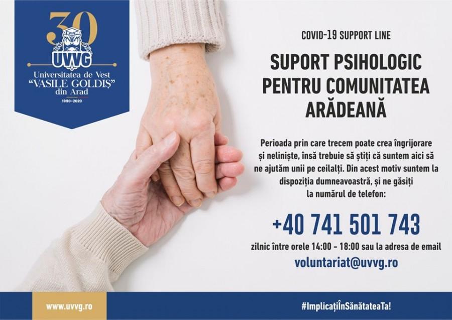 Studenții de la UVVG oferă voluntar suport psihologic pentru persoanele în vârstă afectate de pandemie