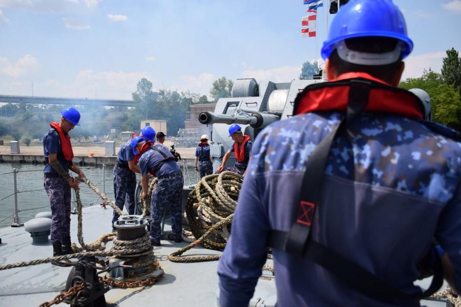 Peste 800 de marinari militari români participă la cel mai amplu exercițiu național desfășurat de Forțele Navale Române în 2020