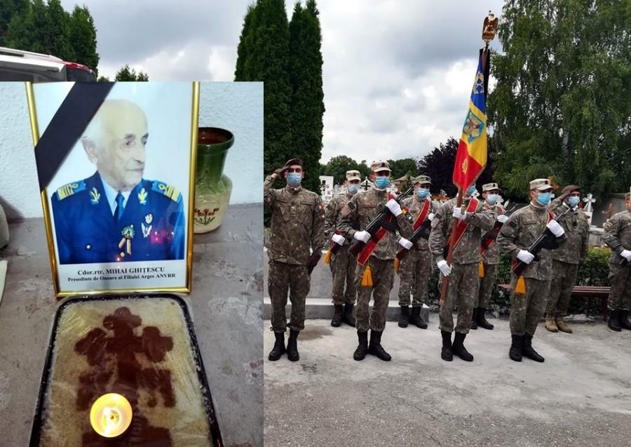 """Un ultim onor! Veteranul de război Mihail Ghițescu a trecut la cele veșnice, """"cu tricolorul și dragostea pentru țara pentru care a luptat în inimă"""""""