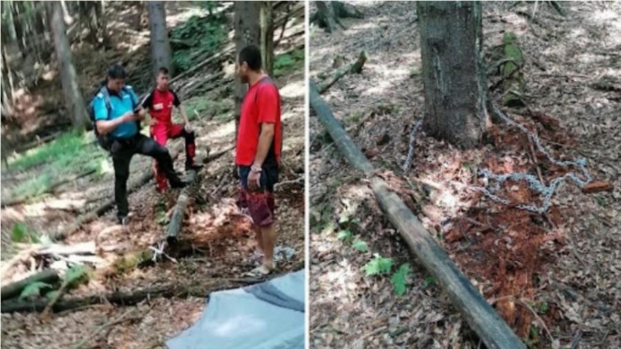 Un tânăr s-a legat cu lanțul de un copac în pădure și a aruncat cheia; de ce a făcut acest gest