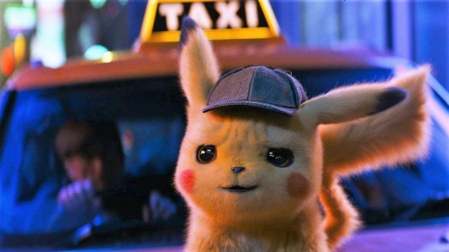 Pokémon Detectiv Pikachu vine în grădina de vară de la cinematograful din Grădiște
