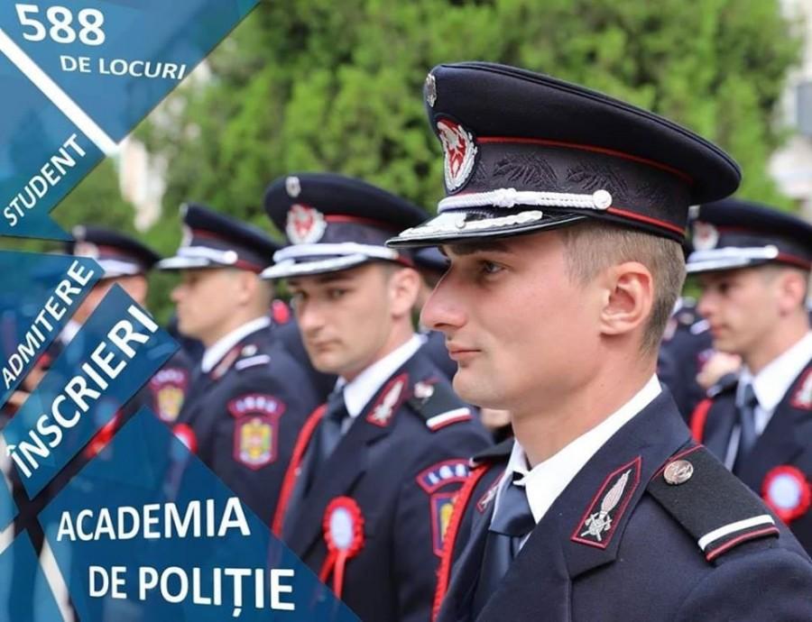 Au început înscrierile la Academia de Poliție! Peste 580 de locuri, scoase la concurs