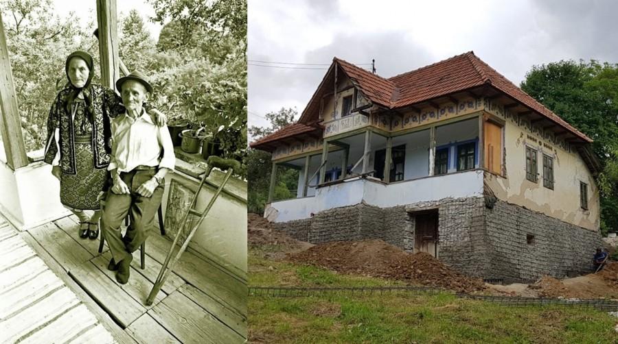 """Au început lucrările de restaurare a """"Casei Elisabeta Rizea"""". Casa eroinei de la Nucșoara va fi transformată în muzeu"""