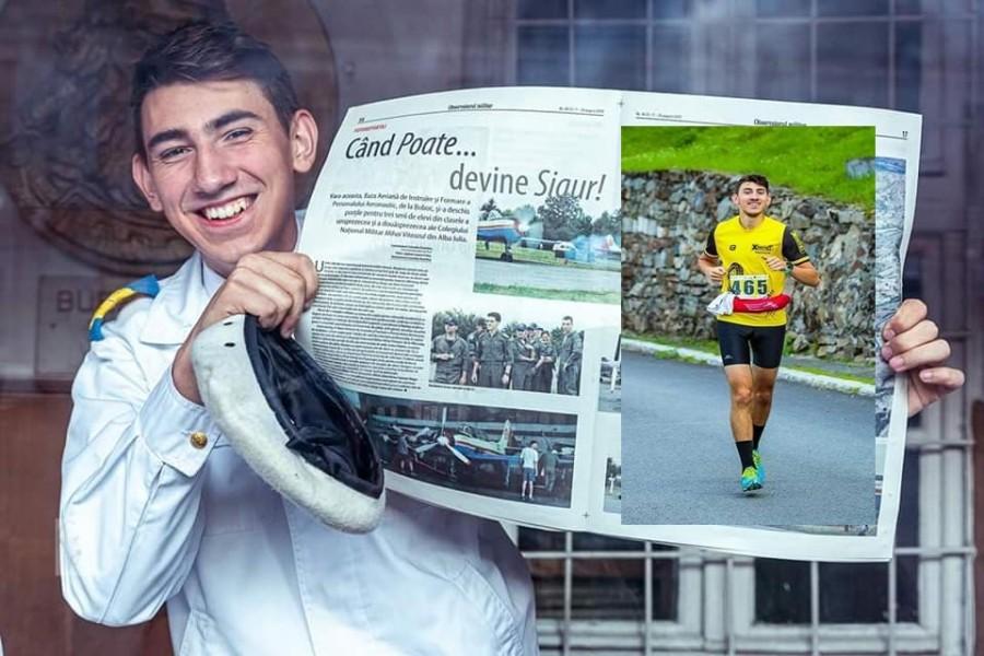 Maratonul Apuseni4Ultra. Elevul caporal Viorel Fleșer va alerga 320 de kilometri în patru zile, pentru o cauză nobilă