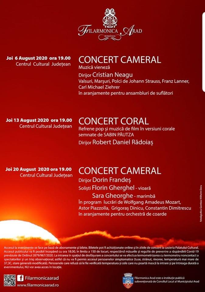 Filarmonica Arad cântă, în această săptămână, la Teatrul de Vară