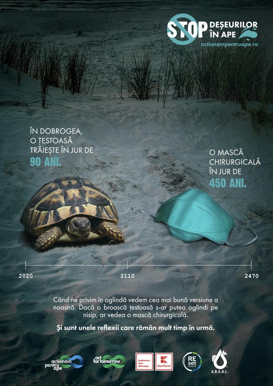 Românii puși față în față cu deșeurile care pun în pericol viața animalelor acvatice
