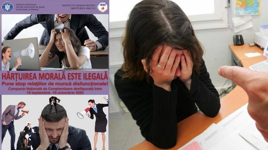 Hărţuirea morală este ilegală! Campanie pentru conştientizarea hărţuirii morale la locul de muncă