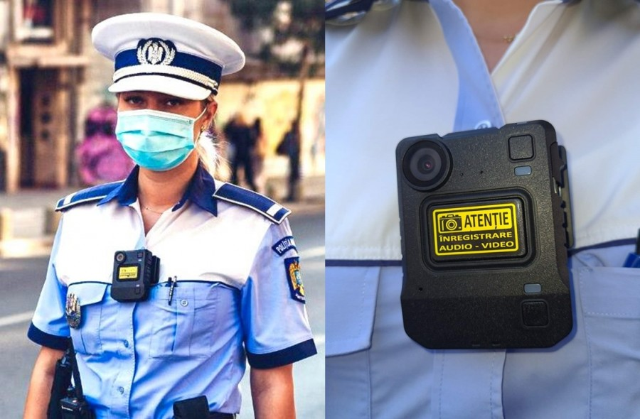 Polițiștii de la Rutieră vor purta camere video pe corp și vor înregistra tot