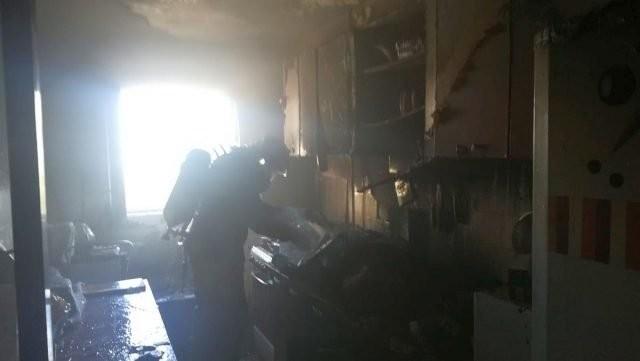 Incendiu la un apartament peCalea Aurel Vlaicu