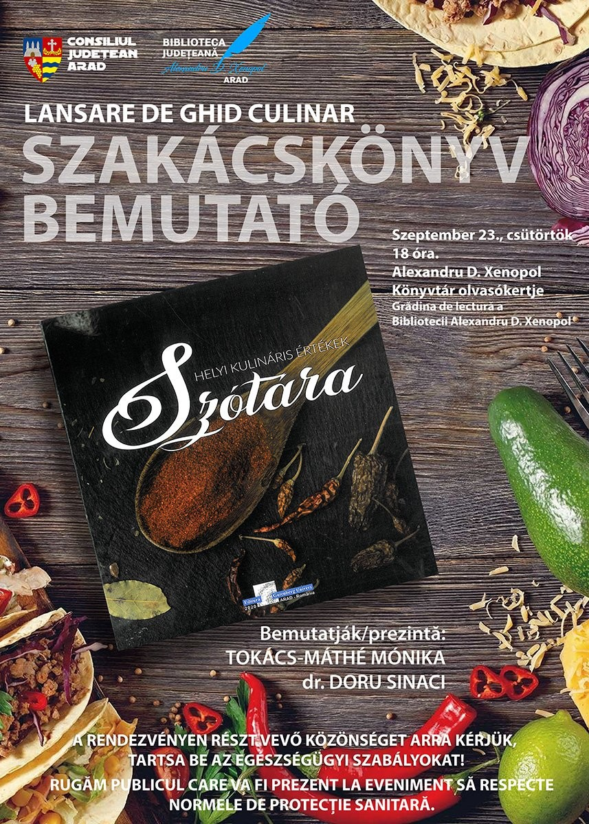 """""""Dicționarul comorilor culinare locale"""" va fi lansat în Grădina de lectură"""