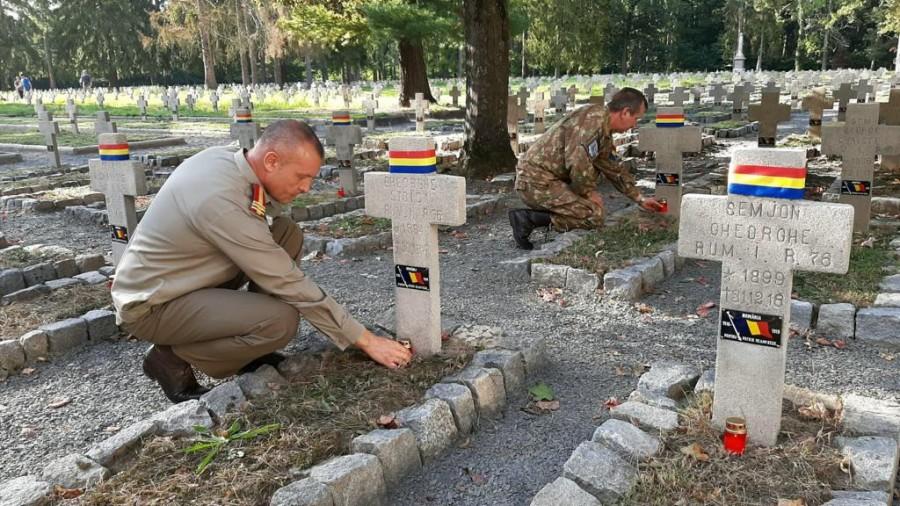 Lucrările de restaurare a Parcelei de onoare a eroilor români din Cimitirul Prizonierilor de Război din Łambinowice, recepționate parțial