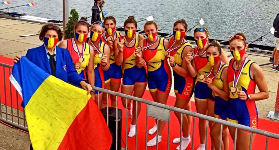 România, locul I în clasamentul pe națiuni la Europenele de la Belgrad. Juniorii români de la canotaj au câștigat 7 medalii