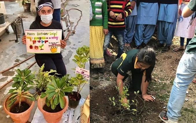 Are doar 9 ani și a convins mii de oameni din întreaga lume să planteze 240.000 de copaci, de ziua ei