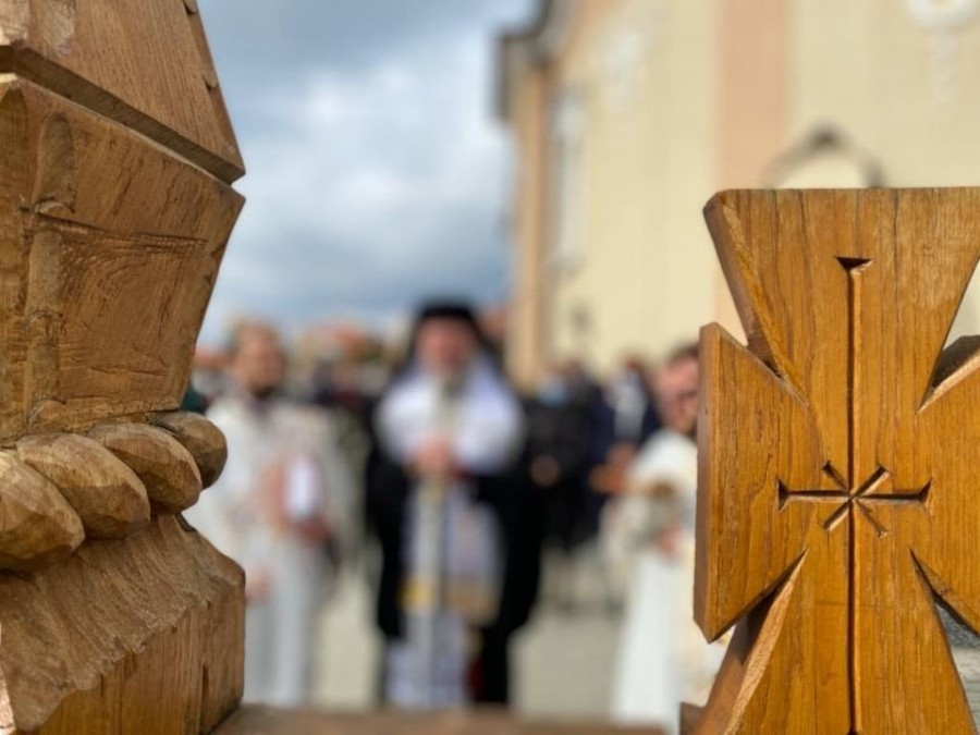 Sfințirea lucrărilor la biserica ortodoxă din Mâsca