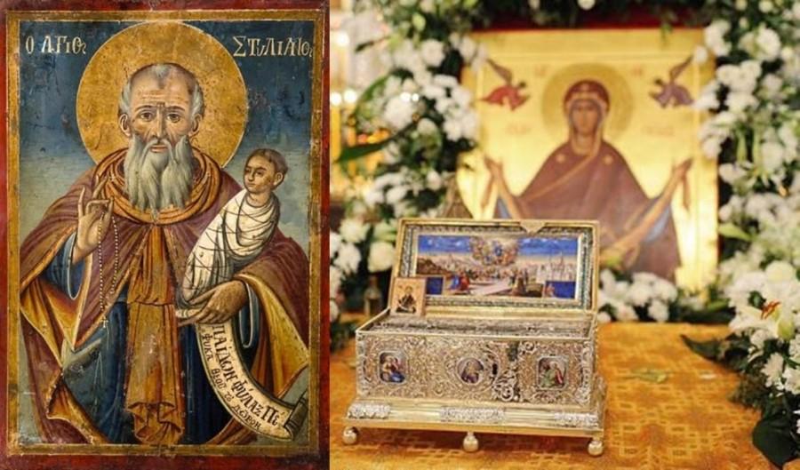 Moaștele Sfântului Stelian, ocrotitorul copiilor, depuse spre închinare pe Colina Bucuriei, alături de moaștele Sfântului Dimitrie