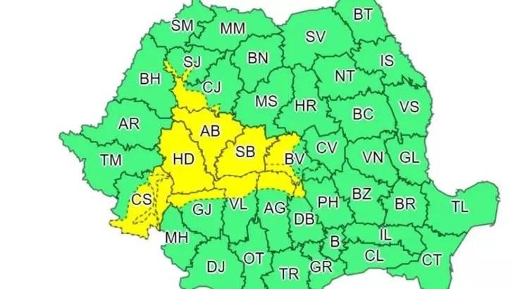 Cod galben de ninsori - Ce zone sunt vizate