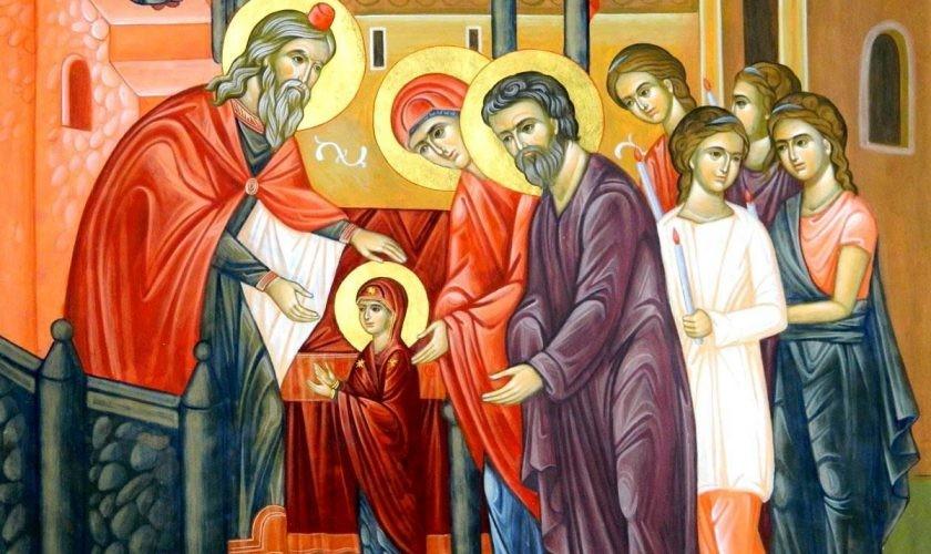 O, ce veste minunată din sărbătoarea Intrării în biserică a Maicii Domnului ni s-arată!