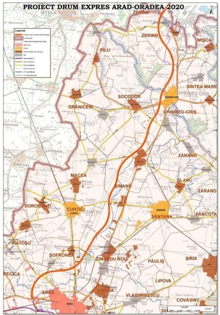 A fost lansată procedura de achiziție publică pentru documentația tehnică aferentă drumului expres Arad-Oradea