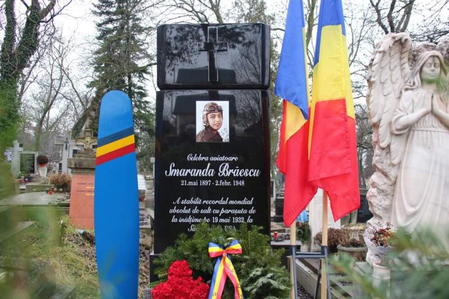 Marea aviatoare Smaranda Brăescu, comemorată la împlinirea a 73 de ani de la trecerea la cele veșnice