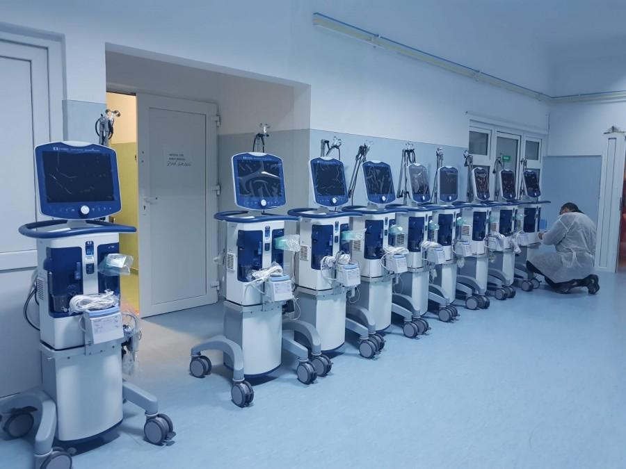 Spitalul Clinic Judeţean de Urgenţă Arad a primit zece ventilatoare de la Ministerul Sănătăţii