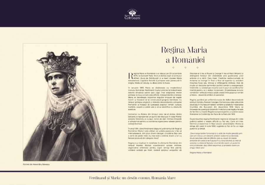 """""""Ferdinand și Maria: un destin comun, România Mare"""" - expoziție la Muzeul Național Cotroceni"""
