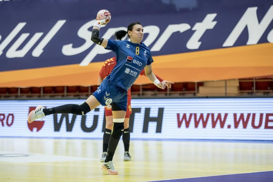 Naţionala feminină de handbal a învins echipa Macedoniei de Nord