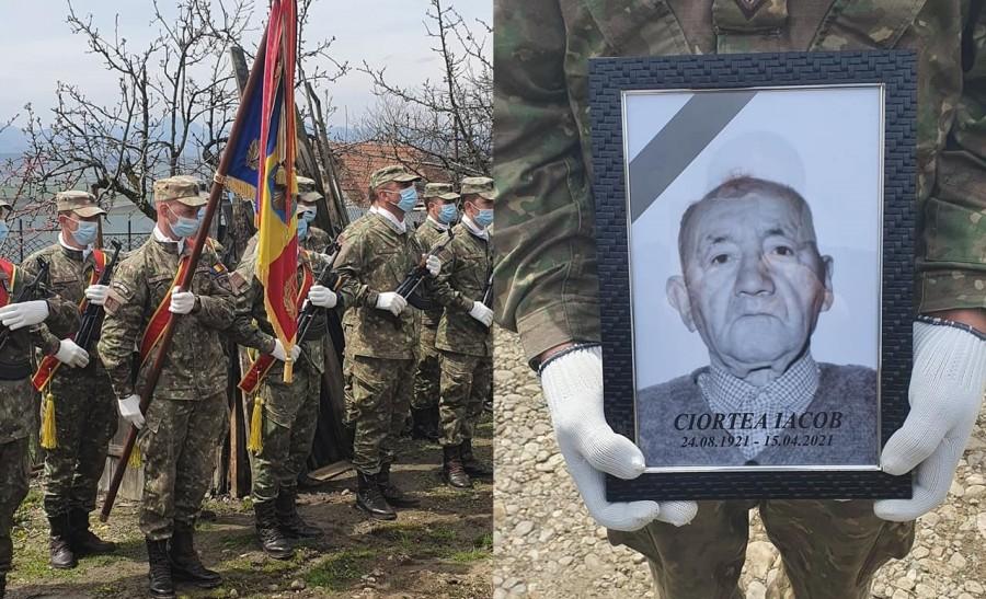 Iacob Ciortea, ultimul Veteran de război din zona Teiușului, înmormântat cu onoruri militare