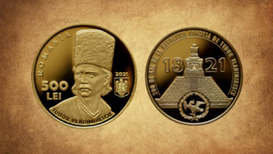 200 de ani de la Revoluția din 1821 - Emisiune numismatică emisă de BNR